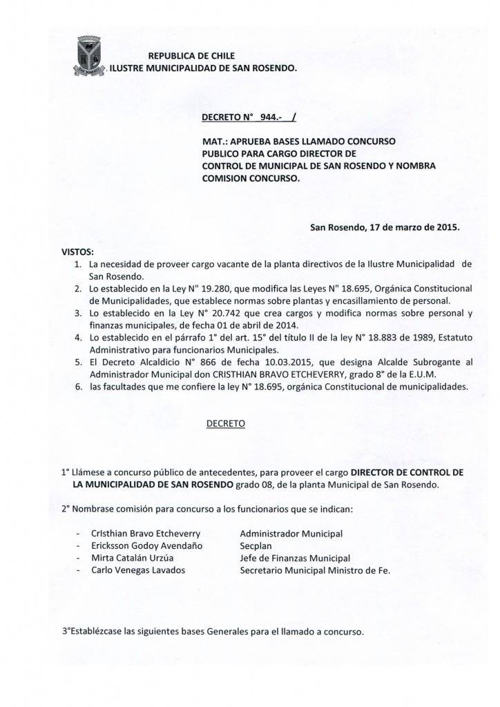 Decreto N° 944
