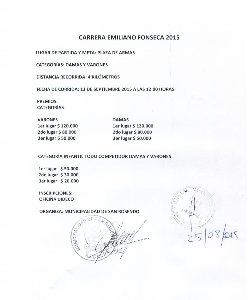Carrera Emiliano Fonseca